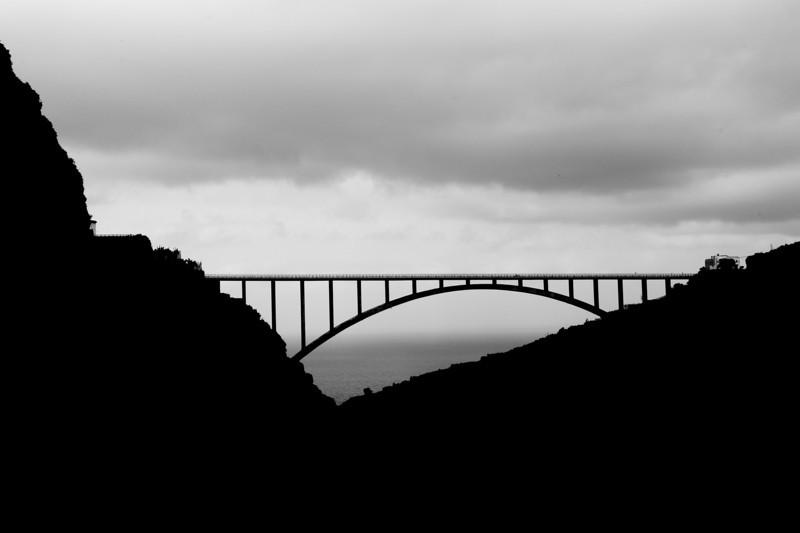 Los Sauces Bridge in Los Tilos, La Palma, Spain
