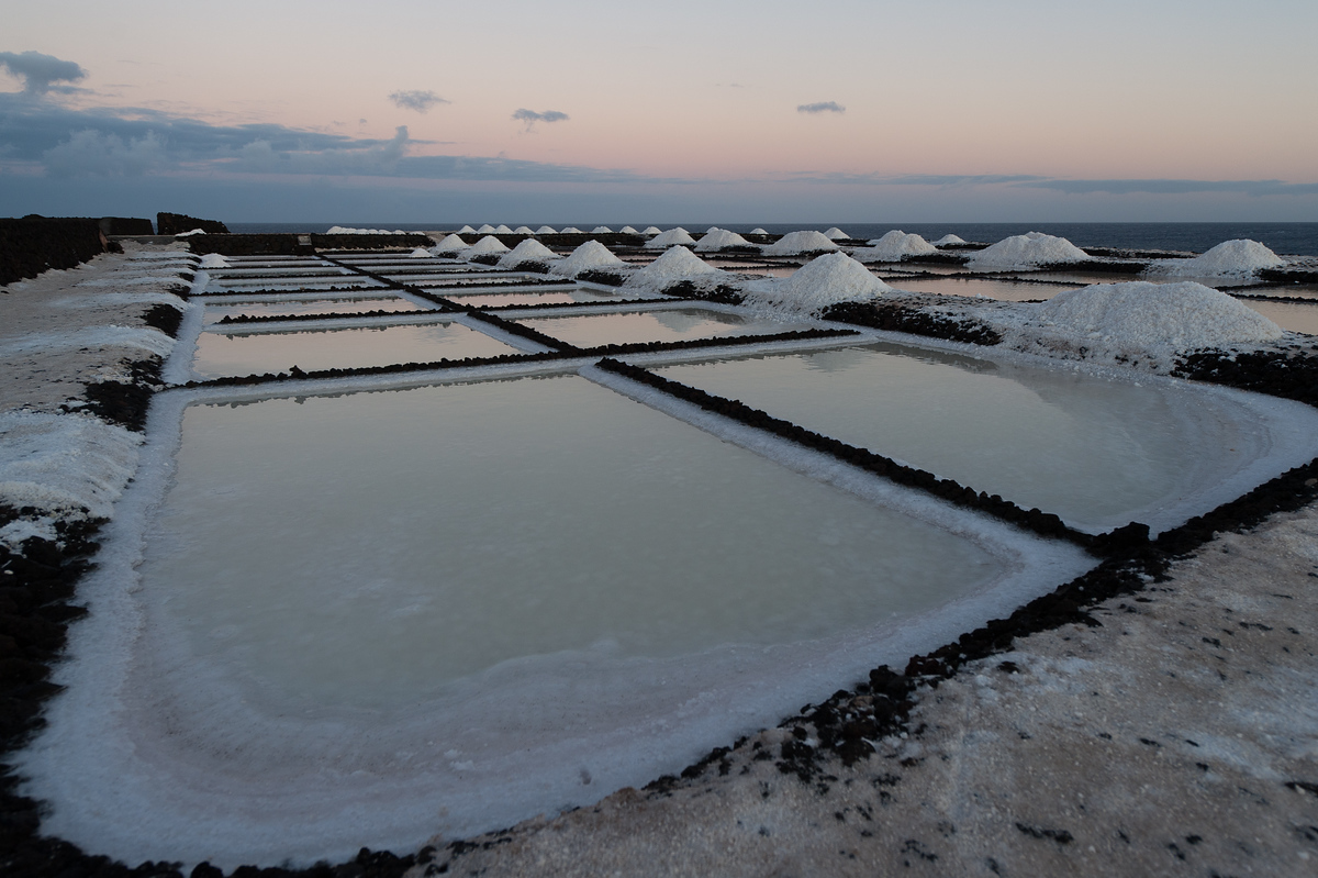 Sea Salt Harvesting on the Island of La Palma, Canary Islands