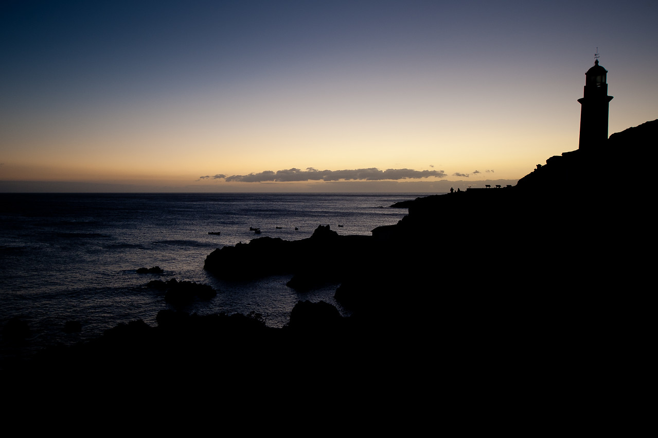 Punto de Fuencaliente in sunset in La Palma, Spain
