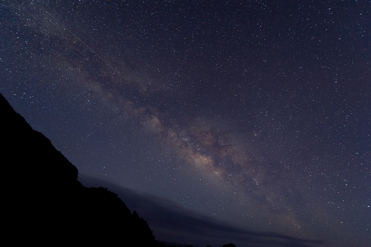 The Milky Way over the island of La Palma