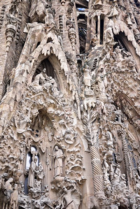 La Sagrada Familia's the Nativity façade; Barcelona, Spain