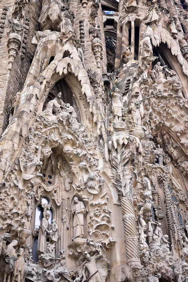 La Sagrada Familia's the Nativity façade; Barcelona, Spain