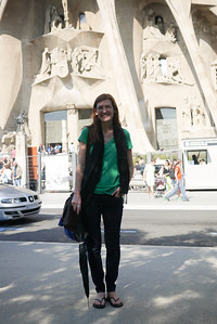 Me at La Sagrada Familia in Barcelona, Spain ... not that you'd know it.