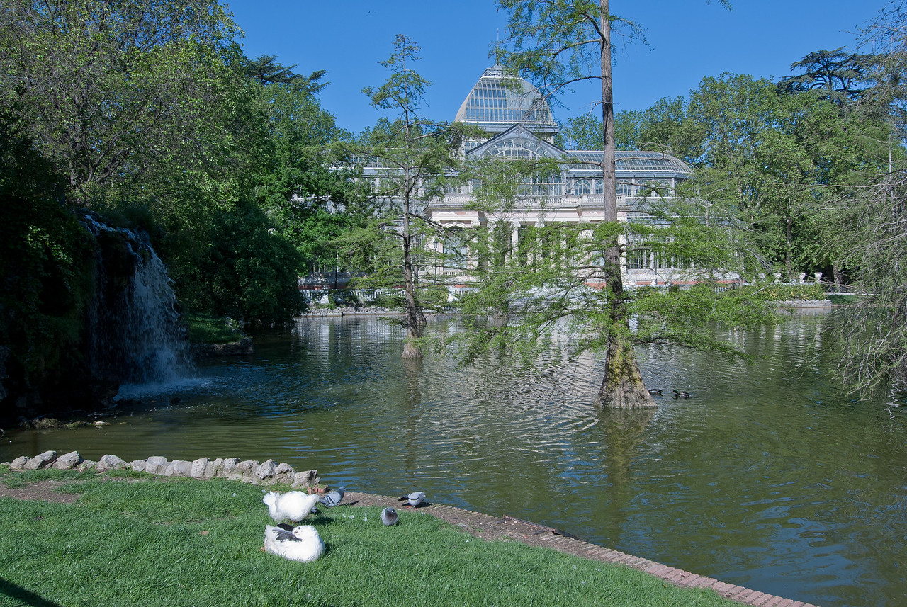 Retiro Park and Crystal Palace in Madrid, Spain