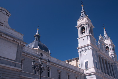 Architectural details of Ermita de San Antonio de la Florida in Madrid, Spain