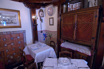 Hemingway's table in Botin Restaurant - Madrid, Spain