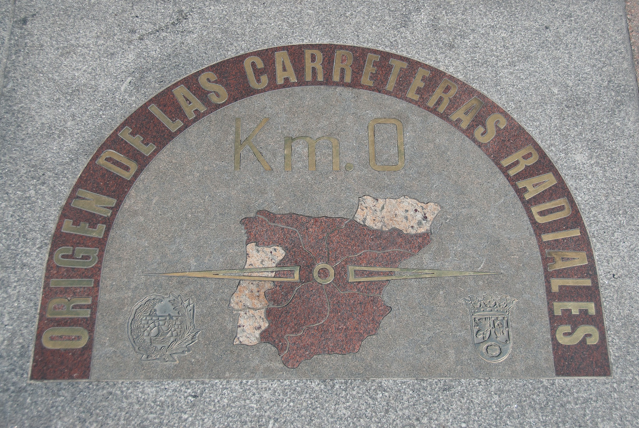 Kilometer Zero in Madrid, Spain