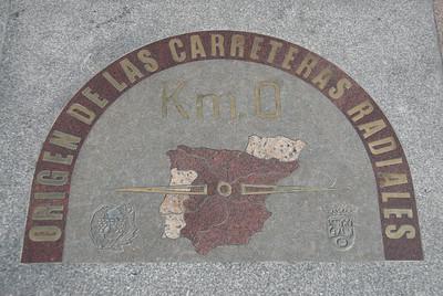 Kilometer Zero in Madrid, Spain