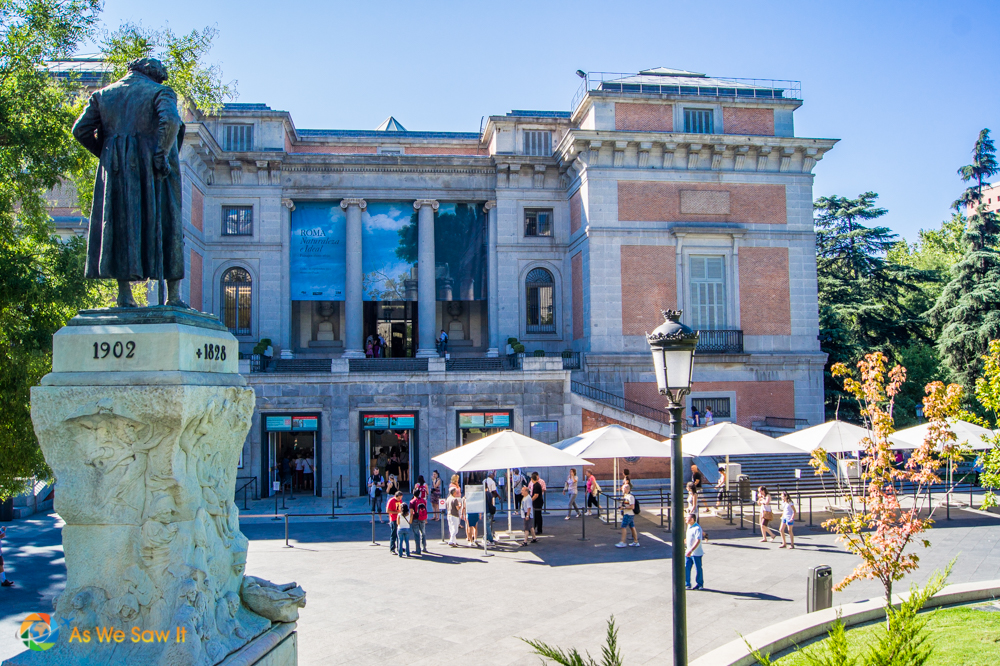 front of the Prado Museum, Madrid
