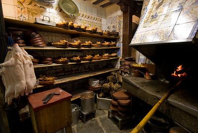 Inside a restaurant's kitchen in Madrid, Spain