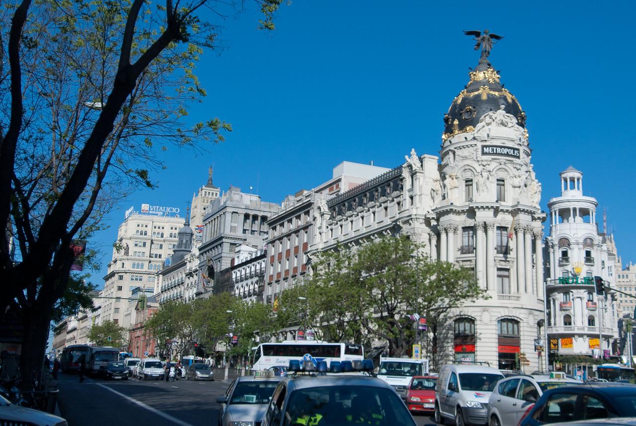 The Metropolis Building in Madrid, Spain