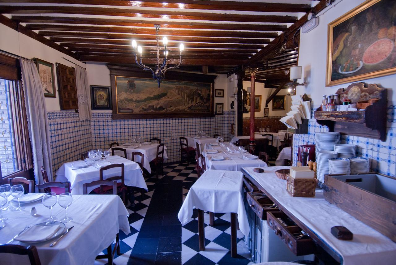 Interior details at Botin Restaurant in Madrid, Spain