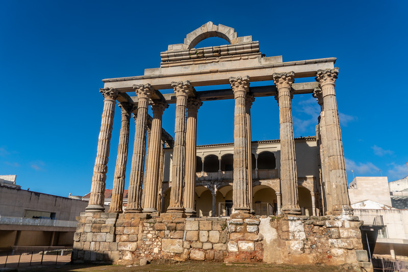 Temple of Diana in Mérida, Spain