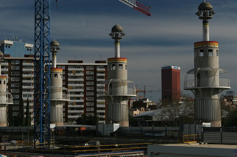 Watchtowers of Parc de l'Espanya Industrial