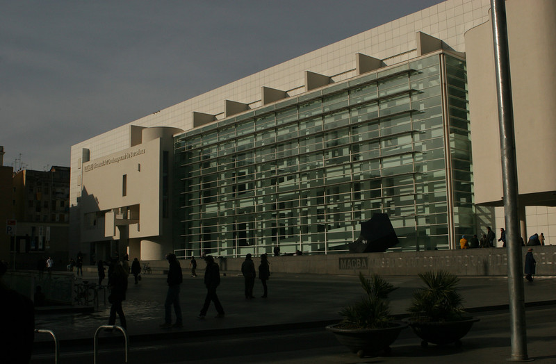 Museu d'Art Contemporani (MACBA) built in 1995, designed by American architect Richard Meier