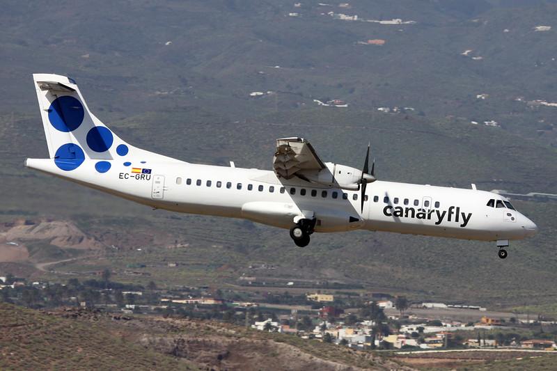 """EC-GRU Aerospatiale ATR-72-202 """"Canaryfly"""" c/n 493 Las Palmas/GCLP/LPA 03-02-16"""