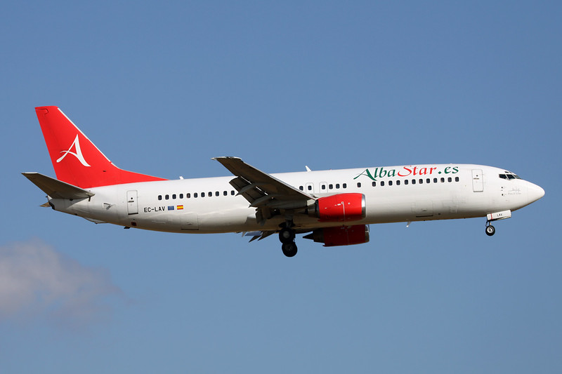 "EC-LAV Boeing 737-408 ""AlbaStar.es"" c/n 24352 Palma/LEPA/PMI 14-06-16"