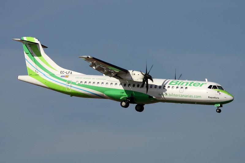 "EC-LFA Aerospatiale ATR-72-212A ""Binter Canarias"" c/n 902 Las Palmas/GCLP/LPA 03-02-16"