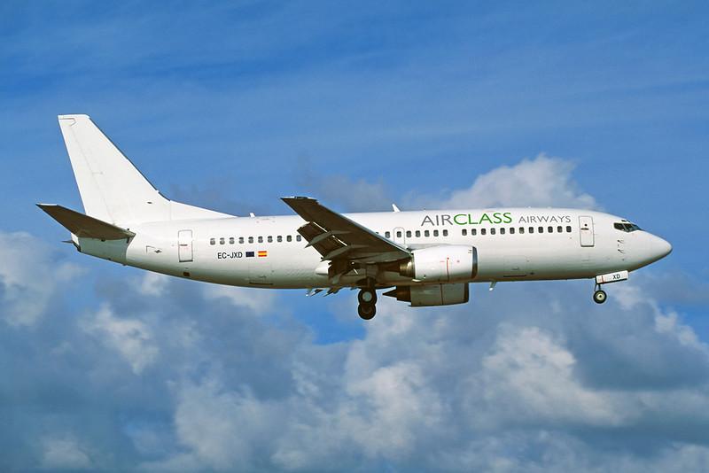 "EC-JXD Boeing 737-33A ""AirClass Airways"" c/n 23633 Arrecife/GCRR/ACE 29-01-07 (35mm slide)"