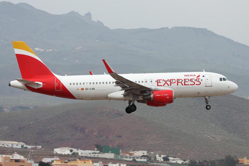 "EC-LVQ Airbus A320-216 ""Iberia Express"" c/n 5590 Las Palmas/GCLP/LPA 02-02-16"