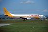 """EC-ETB Boeing 737-4Y0 """"Futura International Airways"""" c/n 24545 Glasgow/EGPF/GLA 07-06-96 (35mm slide)"""