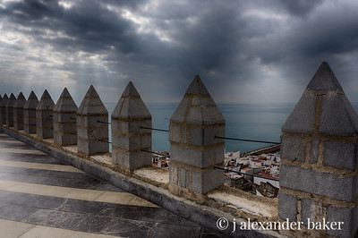 view from rampart of Castell del Papa Luna