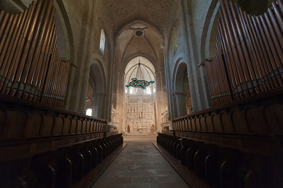 The Organ of Poblet in Poblet Monastery - Catalonia, Spain