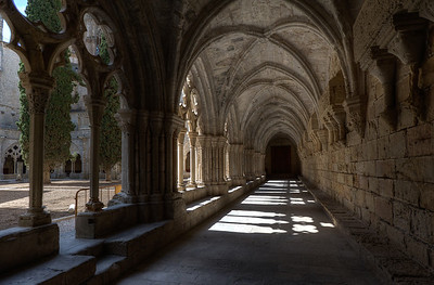 The hallway in Poblet Monastery in Catalonia, Spain