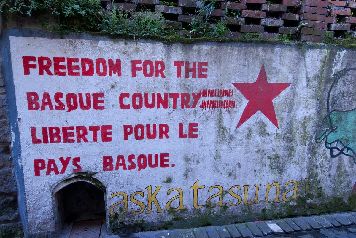 Political graffiti in San Sebastian, Spain