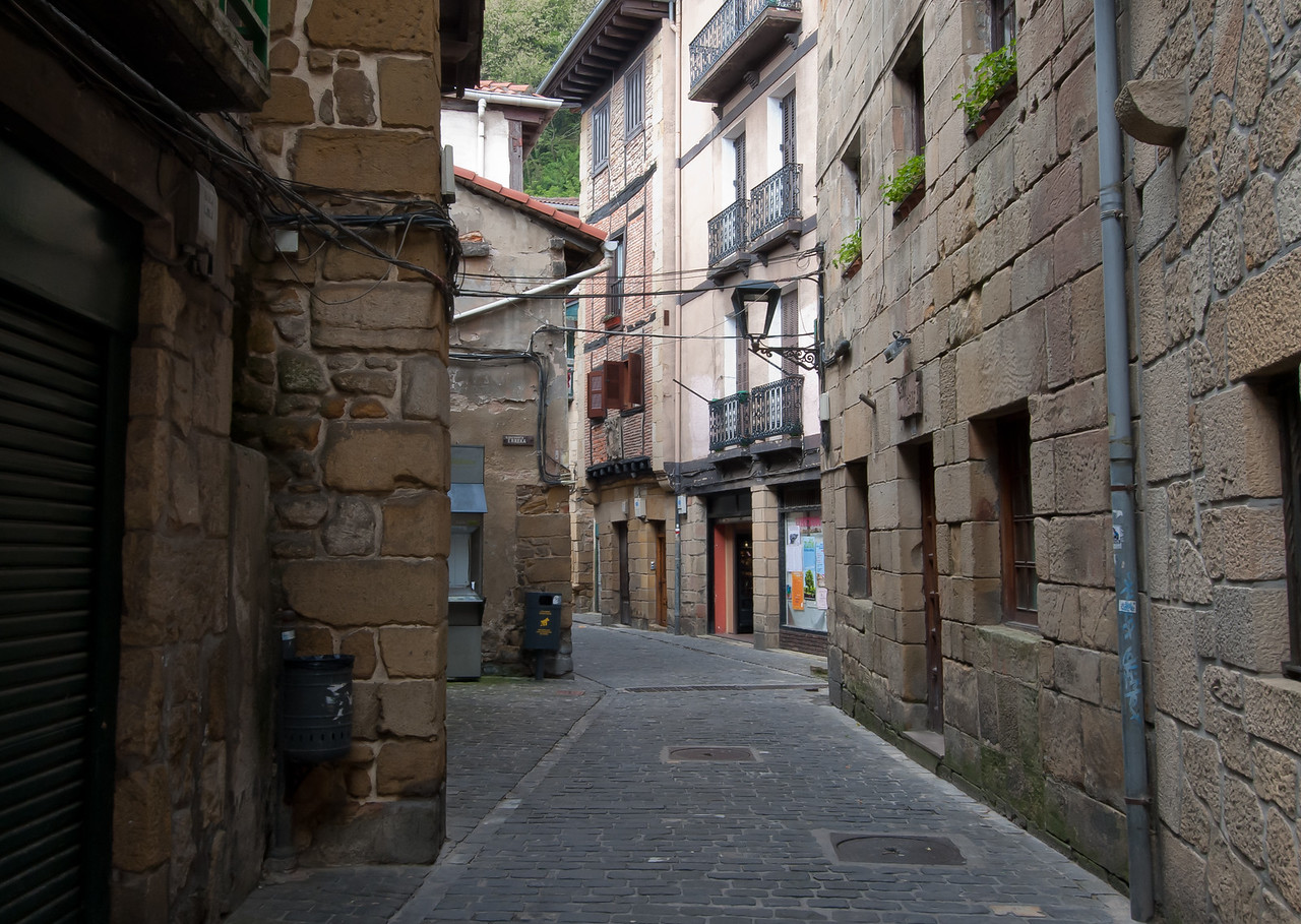 An empty side street in Basque Country, Spain