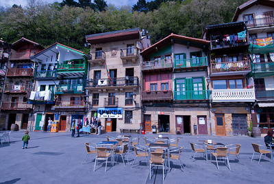 A public square in Basque Country, Spain