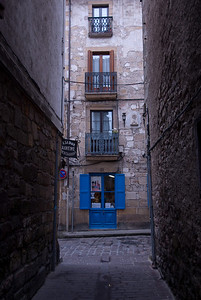 Windows and a side street in Basque Country, Spain