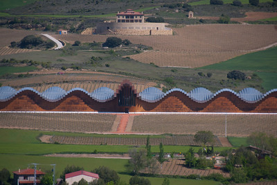 The Ysios bodega in La Rioja Alavesa, Spain