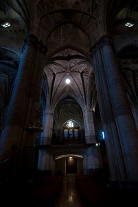 Inside the Church of Santa Maria in Laguardia, Basque Country, Spain