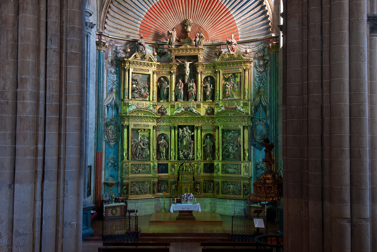 The altar in Church of Santa Maria in Laguardia, Basque Country, Spain