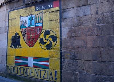 Graffiti on the wall in Basque Country, Spain