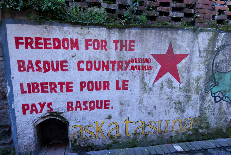 Propaganda graffiti spotted in Basque Country, Spain