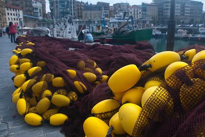 Fishing nets at Old San Sebastian Port in Spain