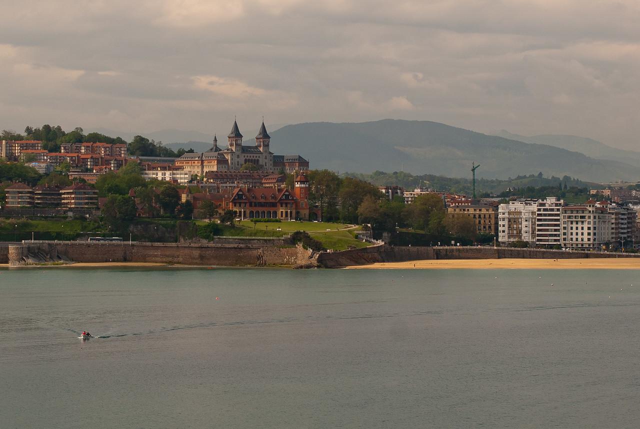 View of the Royal Palace Palacio de Miramar in San Sebastian, Spain