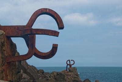 """Peine del Viento"" sculpture in San Sebastian, Spain"