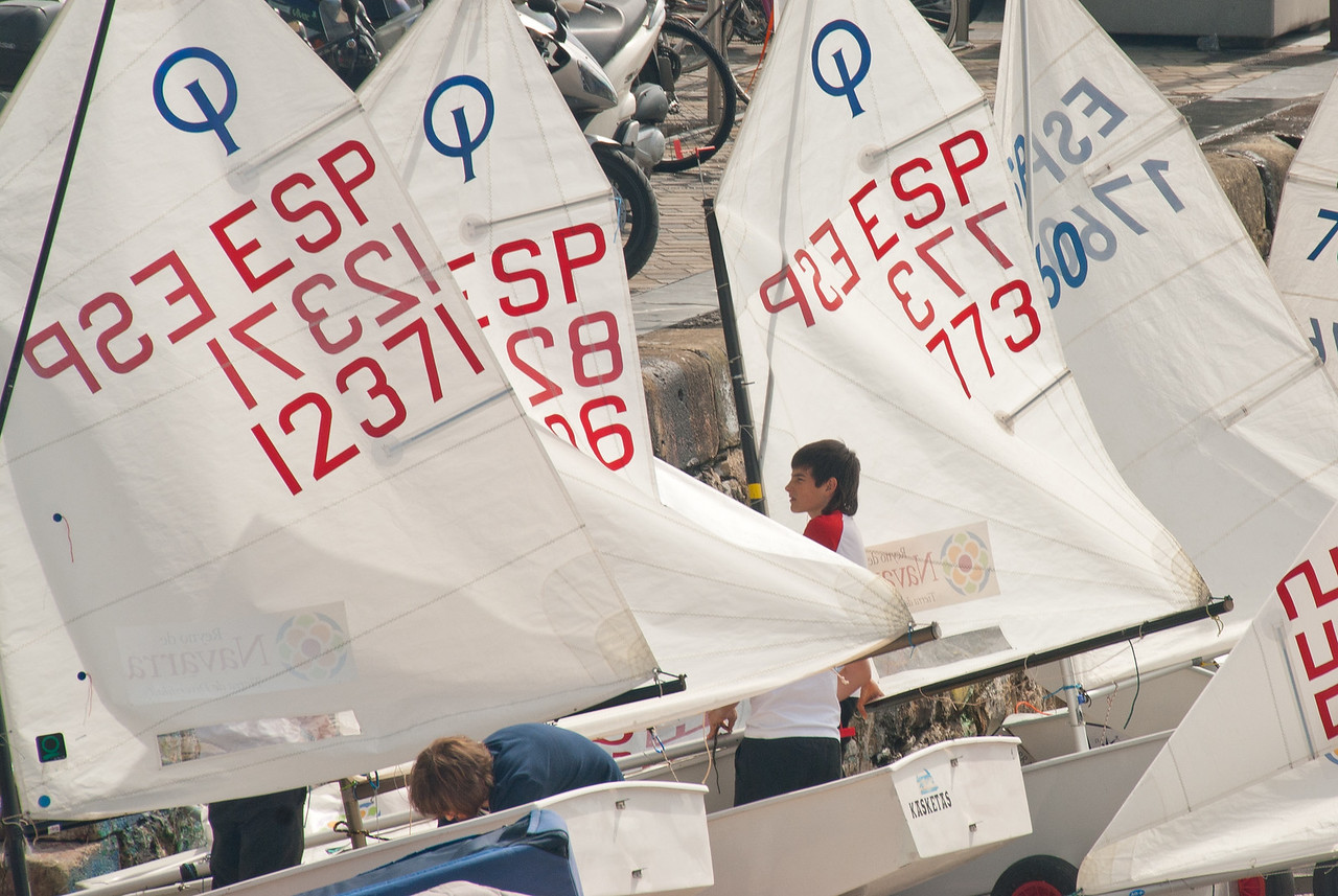 Sail boats on the port of San Sebastian in Spain