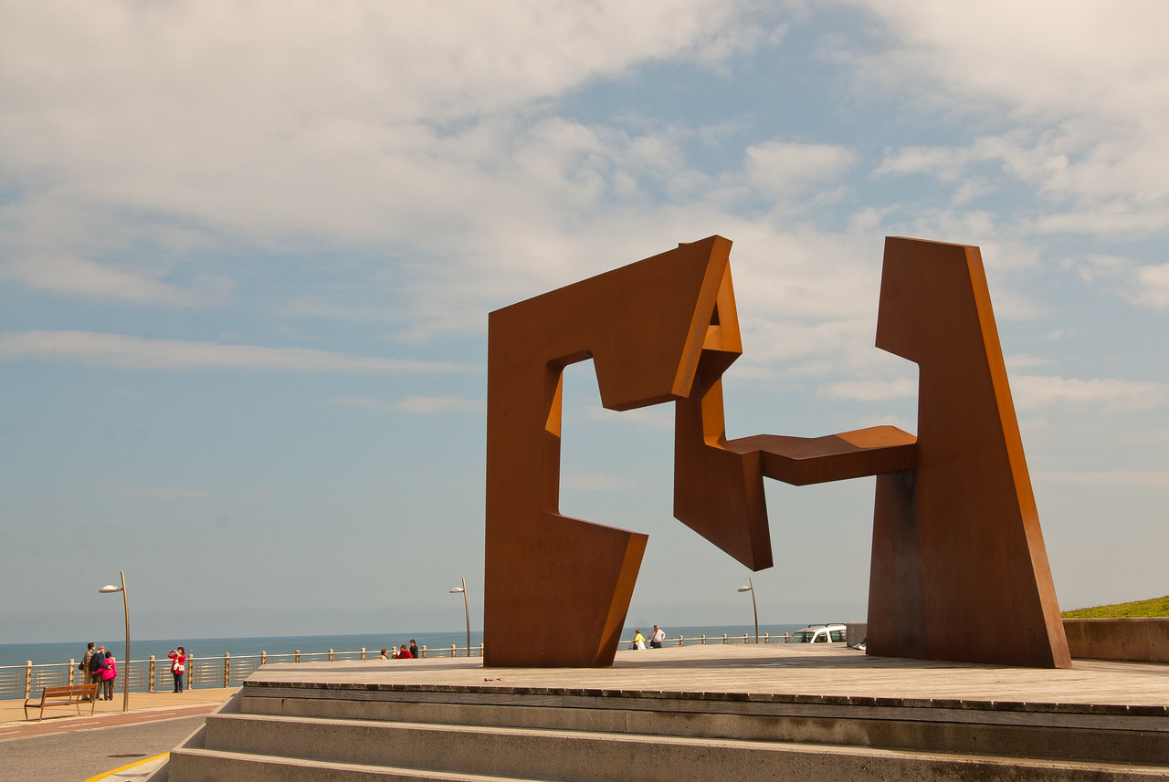 Sculpture by Jorge Oteiza in San Sebastian, Spain