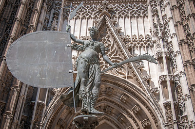Statue of Giraldillo in Seville Cathedral, Seville, Spain