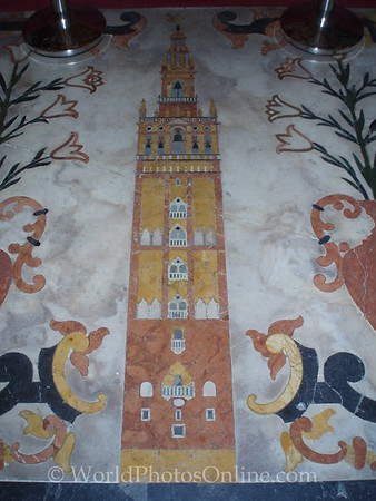 Cathedral - Bell Tower tilework in front of High Altar