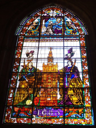 Cathedral - Stain Glass of Patron Saints of Seville