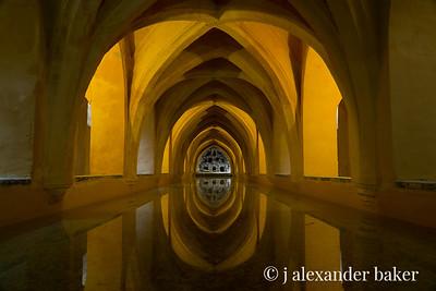 Maria de Padilla Bath, Alcazar in Seville Spain