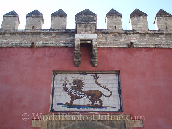 Alcazar - Palace of Don Pedro - Symbol of Spanish Rulers over Entry