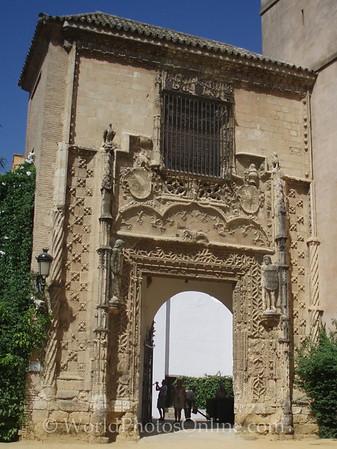 Alcazar - Gardens - Gates of the Duke of Arcos
