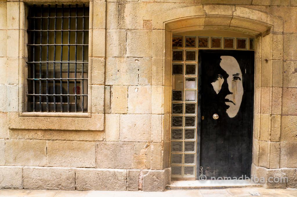 Ergo street art in Barcelona