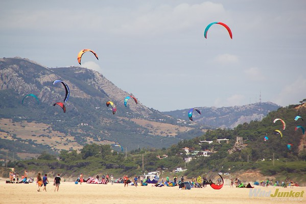 A popular spot for kitesurfers